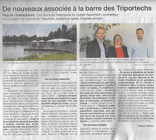 Article ouest france aaportech
